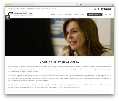Best WordPress theme Avada - fernandezayoradental.com