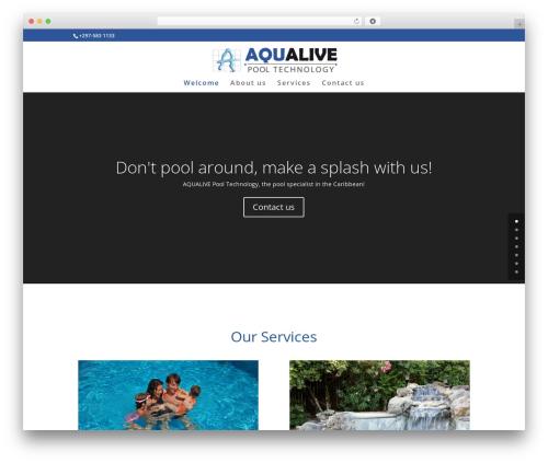 Best WordPress theme Divi - aqualivepool.com