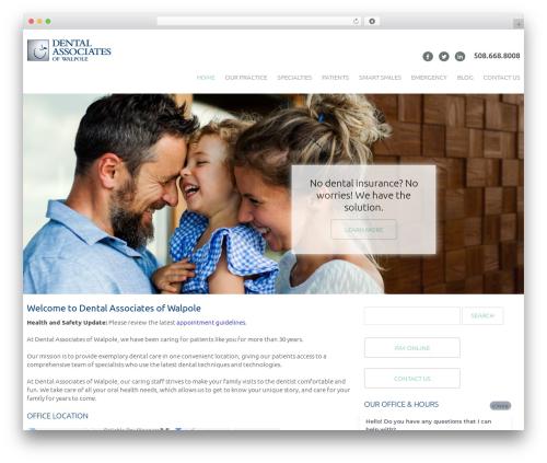 cherry WordPress template - dentalassociatesofwalpole.com