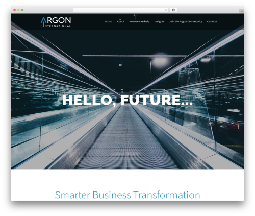 Investment best WordPress theme - argon-intl.com
