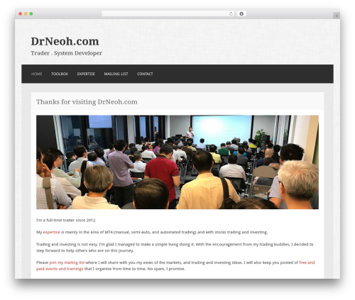 Motif WordPress theme - drneoh.com