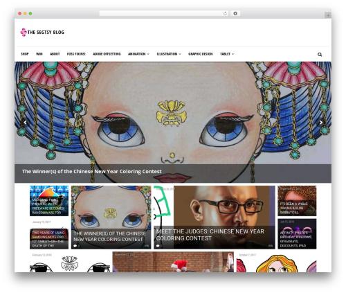 Newspeak newspaper WordPress theme - segtsy.com