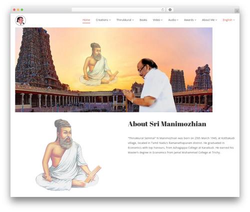 Nominee WordPress theme - manimozhian.com