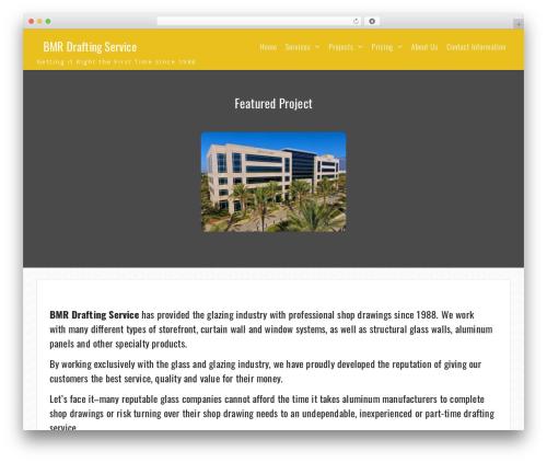 Onefold best free WordPress theme - bmrdrafting.com