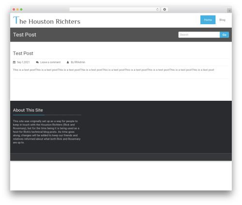 Rambo WordPress template - thehoustonrichters.com