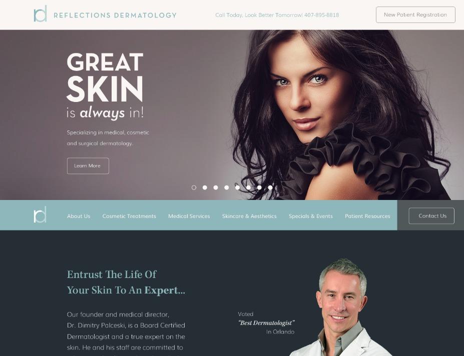 Reflections Dermatology WordPress theme