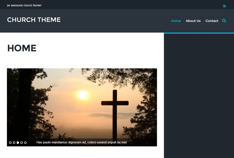 WordPress template Themify Event