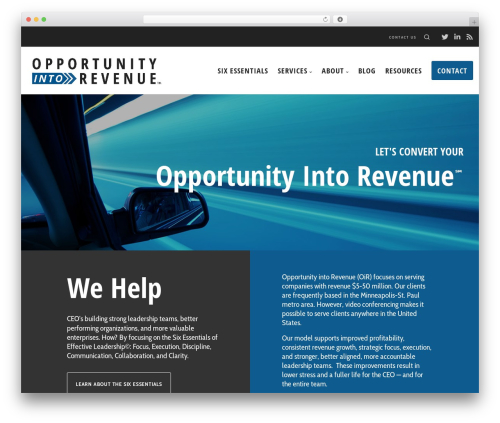 WordPress theme Blade - oppintorev.com