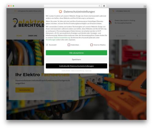 WordPress theme Tanj - elektro-berchtold.com