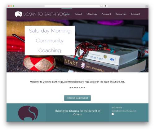 WordPress website template Kriya - downtoearthyoga.com