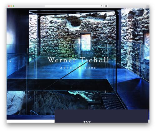 Architekt WP theme - werner-tscholl.com