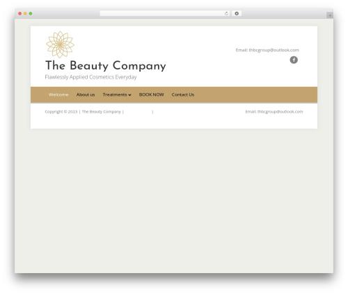 Best WordPress template Beaver Builder Theme - thebeautycompanyuk.com