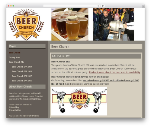 Blog Fever theme WordPress - beerchurch.com