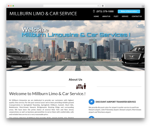 Crossway business WordPress theme - millburnlimo.com