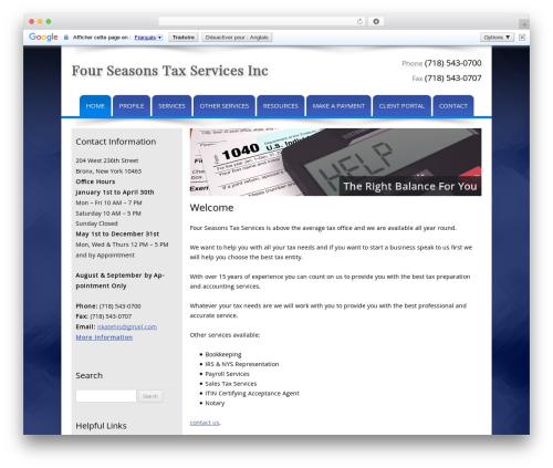Customized WP template - fstaxes.com