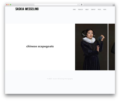 Genesis WordPress theme image - saskiawesseling.com