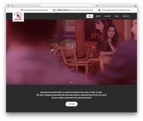 Handel WordPress template - americandreamcafesplit.com
