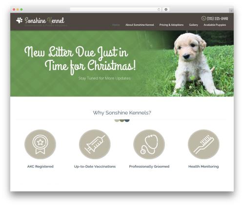 Pet WordPress theme - sonshinedoodlesandpoodles.com