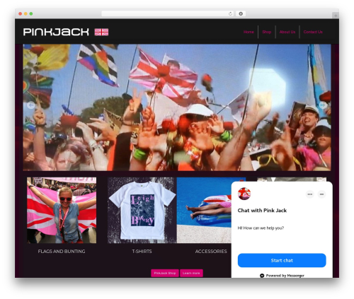 PinkJack Theme WordPress ecommerce template - pinkjack.com