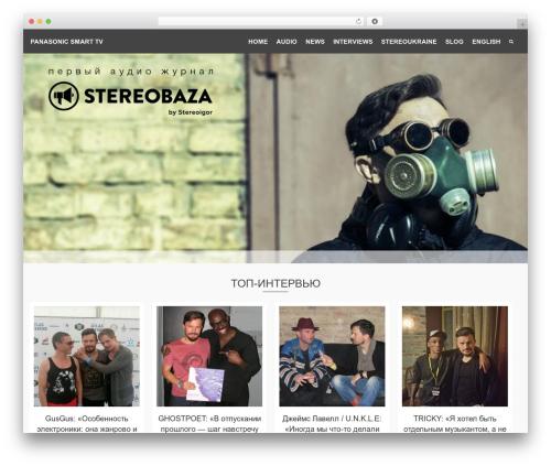 Pinnacle free WP theme - stereobaza.com