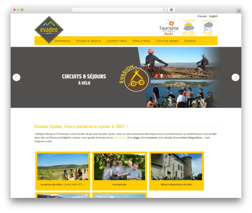 Quare WordPress page template - evadeocycles.com