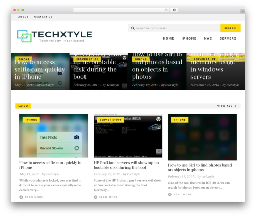UrbanNews WordPress news theme - techxtyle.com