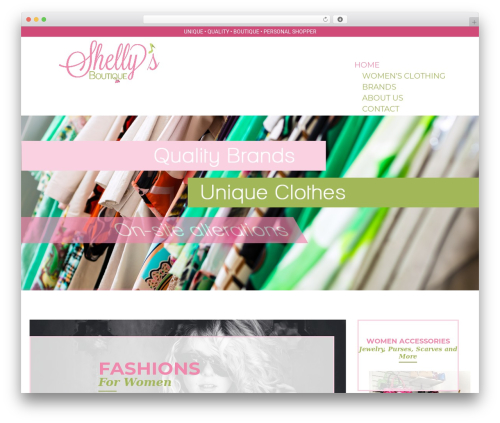 WP template Kute Boutique - shellysboutiquemn.com