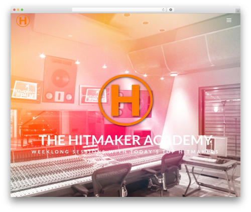 Aku WordPress theme design - hitmakeracademy.com