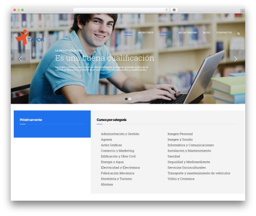 Best WordPress theme Edubase - formaciontafor.com