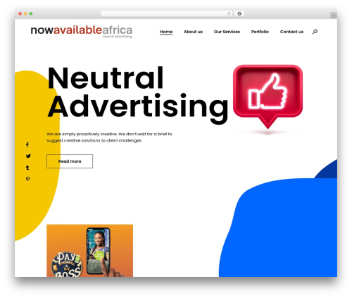 Blomma WordPress page template - naafrica.com