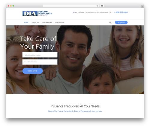 Insurance-Ancora WordPress theme - delconinsurance.com