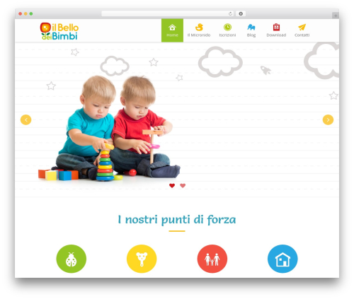 Kiddie WordPress template - ilbellodeibimbi.com