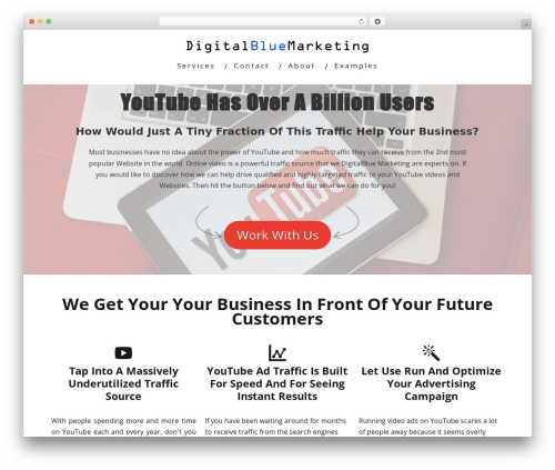 Minus WordPress video theme - digitalbluemarketing.com