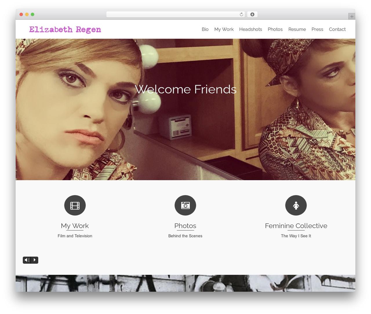 Pinnacle free WordPress theme - elizabethregen.com