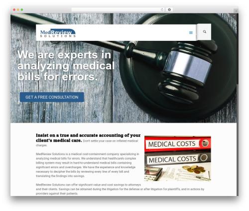 WordPress website template Betheme - medreviewsolutions.com