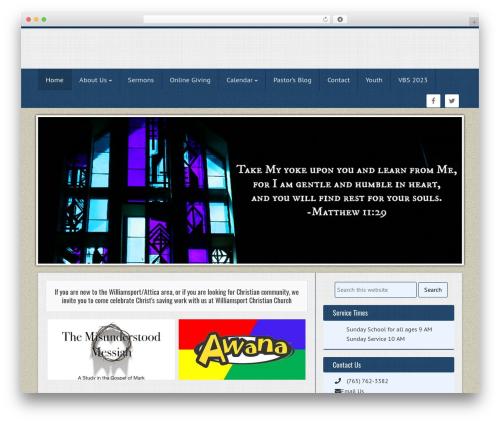 WordPress ezchurch plugin - williamsportchristian.com