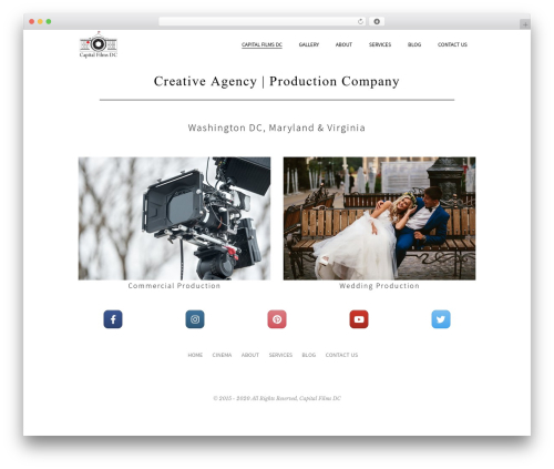 Beau WordPress video theme - capitalfilmsdc.com