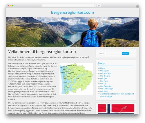 BlueGray WordPress theme free download - bergensregionkart.com