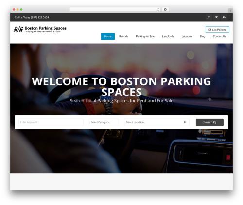 Classiera best WordPress template - bostonparkingspaces.com