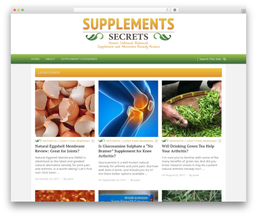 Hickory theme WordPress - supplementssecrets.com