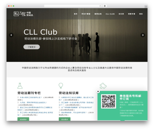 Manual theme WordPress - chinalaborlaw.com