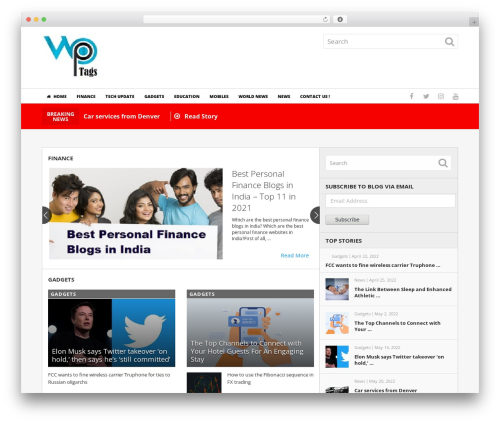 NewsToday by MyThemeShop WordPress theme design - wptags.com