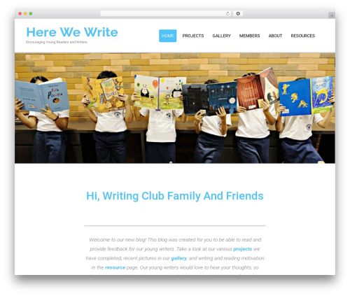 Theme WordPress Colorist - herewewrite.com