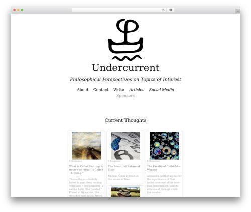 Twenty Thirteen template WordPress free - undercurrentphilosophy.com