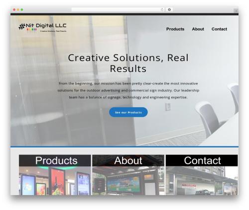 WordPress website template bizzy - nitdigital.com