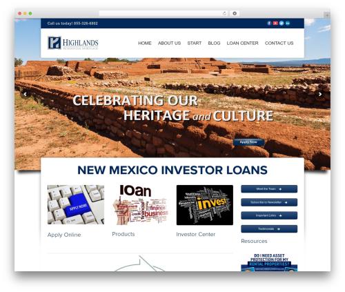 WordPress website template Hedge - newmexicoinvestorloans.com