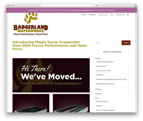 Arouse template WordPress - badgerlandmapleworks.com
