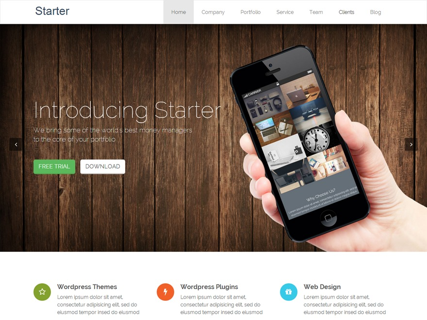 Bates WordPress theme