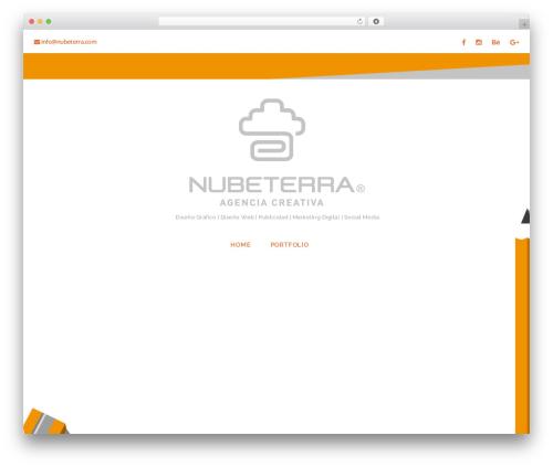Caldera WordPress website template - nubeterra.com