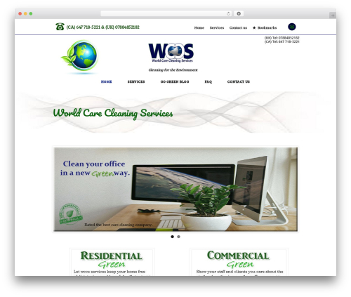 Cleaning Services WordPress template for business - wcarecservices.com